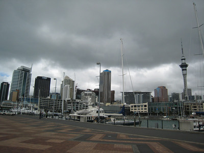 Auckland skyline from the viaduct