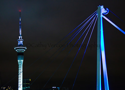Auckland lights up during the stopover for the Volvo Ocean Race 2012