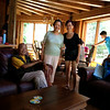 With Mr & Mrs Poon, at cottage.