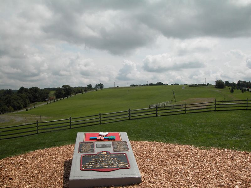 Max Yasgur's farm, 35 years after (to the day)
