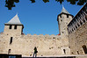 Old city walls of Carcassonne