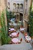 Interior courtyard of our hotel in Caunes Minervois, Hotel D'alibert