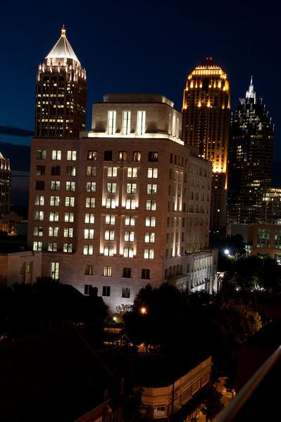 Federal Reserve Bank of Atlanta at night