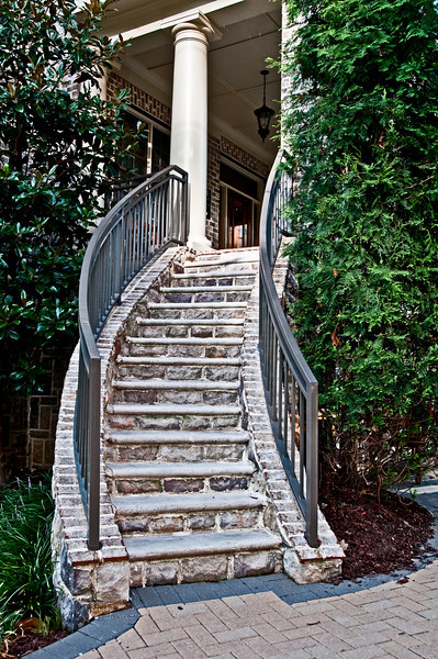 Stairs leading to a condo in Midtown Atlanta