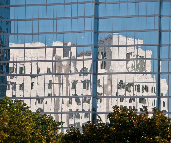 Federal Reserve Bank of Atlanta reflection on a close by windows