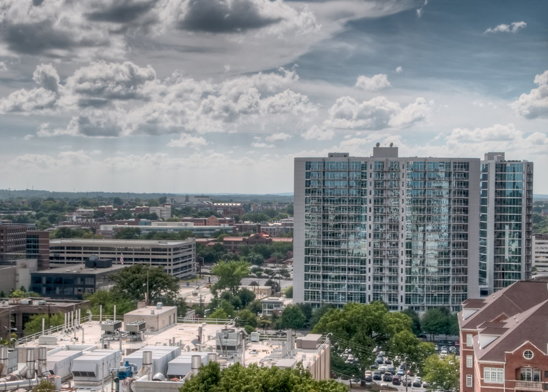 View from Eileen Dubin's condo patio in mid-town Atlanta.