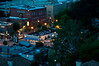 Looking down at 10th Street and Piedmont Ave from Eileen Dubin's condo in midtown Atlanta at night