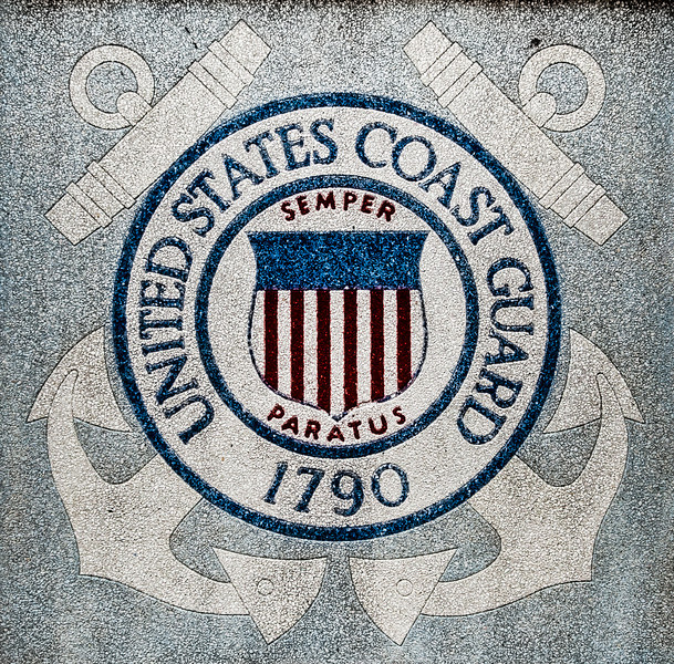 Wilmington, NC - United States Coast Guard Stone Sign