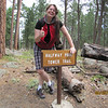Terra next to the half way marker, about .75 miles at this point