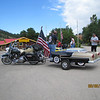 ...Stopping at a gift shop and joining our new friends on their way to Sturgis...Cool bike trailer!