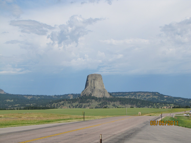 Approaching Devil's Tower in north-eastern Wyoming...
