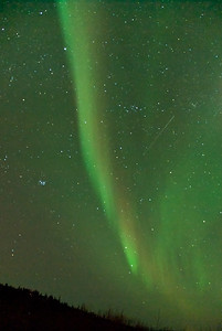 Pleiades and a shooting star, from Cleary Summit, Fairbanks, AK.