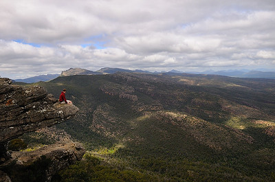 Tom at the Balconies in Grampians National Park