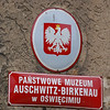 Auschwitz-Berkenau museum sign