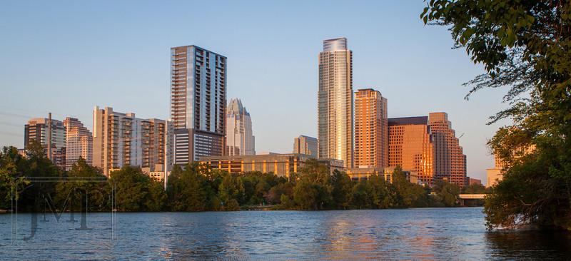Austin Downtown - Walking along Lady Bird Lake Trail in Austin, TX.