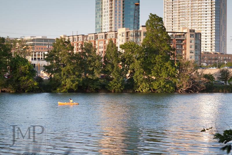 Park in the City - Walking along Lady Bird Lake Trail in Austin, TX.