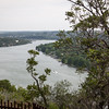 Lake Austin - View from Mt Bonnell Park looking out towards the Tom Miller Dam.