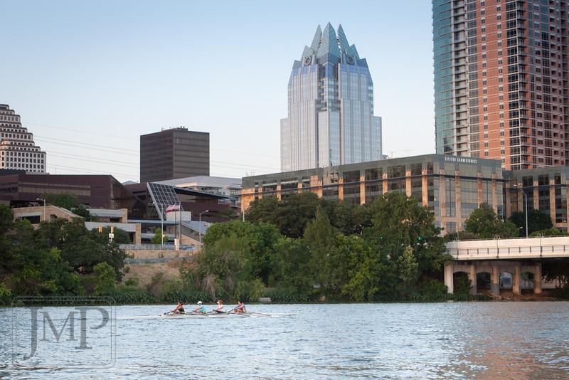 Boating on Town Lake in downtown Austin - Walking along Lady Bird Lake Trail in Austin, TX.