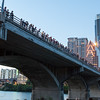 Congress St Bridge in Austin, TX - Waiting for the bats to emerge from the Congress St bridge in Austin, TX.