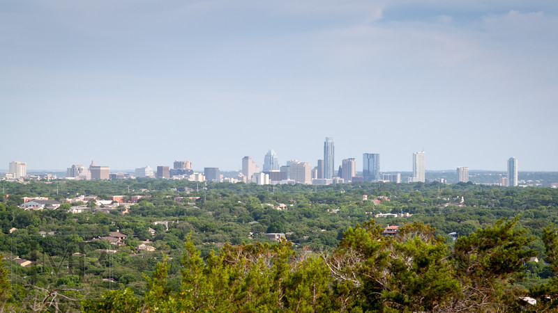 Downtown from Bonnell - View of downtown Austin from Mt Bonnell Park