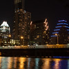 Downtown Austin at night - Walking along Lady Bird Lake Trail in Austin, TX.