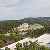 Wide country - A wide-angle shot (three images) including Lake Austin, the Austin Country Club, the 360 Bridge, and the roof of my office building.
