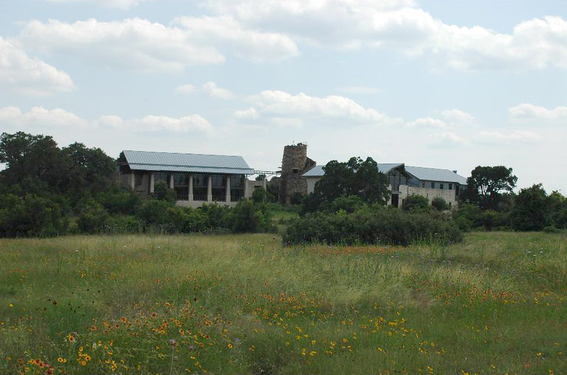 Visited the Ladybird Johnson Wildflower Preserve. The buildings have some green architecture with rain cachement, etc.