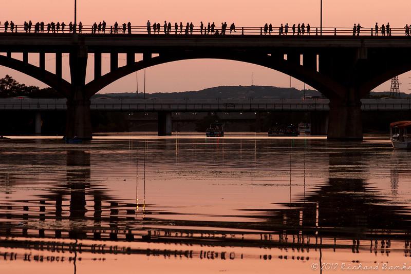 Waiting for bats, Congress Ave Bridge, Austin, Tx
