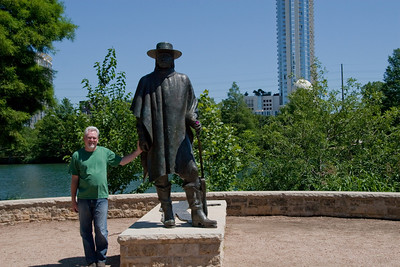 Gary at the Stevie Ray Vaughan Memorial