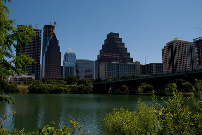 View of Downtown From South Bank of Lady Bird Lake
