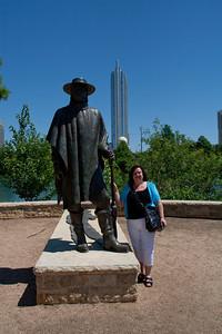 Lauralea at the Stevie Ray Vaughan Memorial