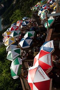 Umbrellas at The Oasis, Lake TravisThe Oasis, Lake Travis