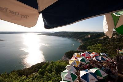 Umbrellas at The Oasis, Lake Travis