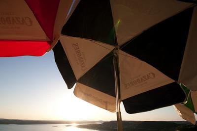Casadores Umbrellas at The Oasis, Lake Travis