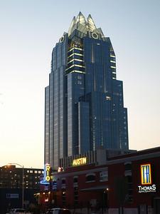 Austin success stories: banking above, drinking below.
