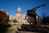 Texas Cowboy at Capitol, Austin Texas