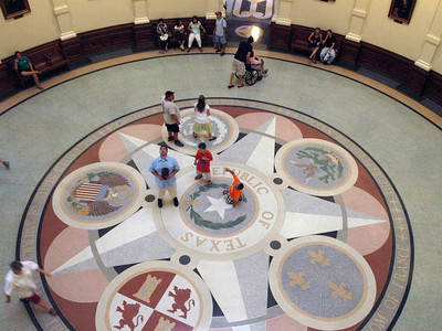 Lone Star floor displays six nations to have claimed Texas as their own. Can you name them?