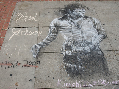 Sidewalk memorial.