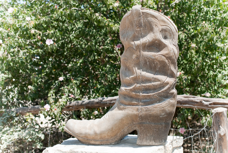 """<span id=""""title"""">Giant Boot</span> Kind of random - but very Texas-y - this boot and another just like it was outside the Salt Lick."""