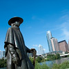 "<span id=""title"">Watchful Stevie</span> A larger-than-life statue of Stevie Ray Vaughn stands watch along Town Lake."