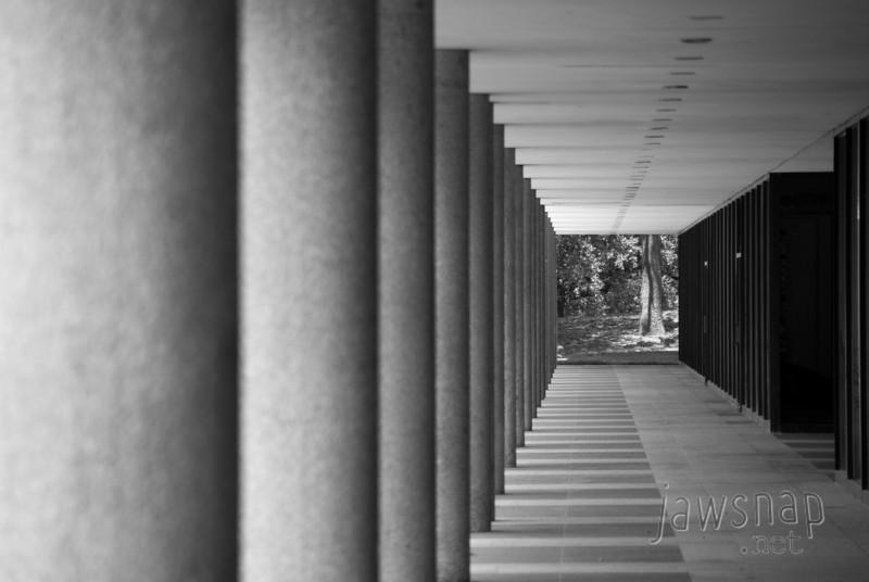 "<span id=""title"">Long Walkway</span> Near the LBJ library at UT"