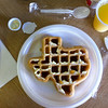 "<span id=""title"">Waffle, Texas-Style</span> Notice the appalling amount of waste generated by a simple breakfast. I hate to stir the fires of CA-TX animosity, but seriously... come on."