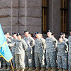"<span id=""title"">Military Ceremony</span> We met at the South steps of the Capitol for a walking tour of downtown, and this changing of the guard ceremony was taking place."