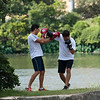 "<span id=""title"">Boxing</span> One of the many activities that take place along Town Lake, aka Lady Bird Lake."