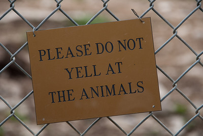 PLEASE DO NOT YELL AT THE ANIMALS