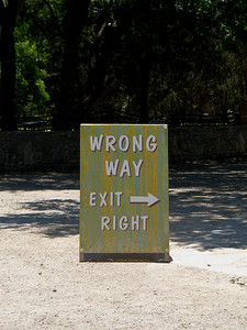 Wrong Way Exit -> Right