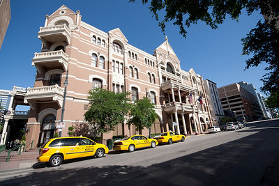 Taxis Outside the Driskill
