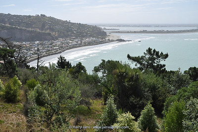view over Sumner Bay, Christchurch