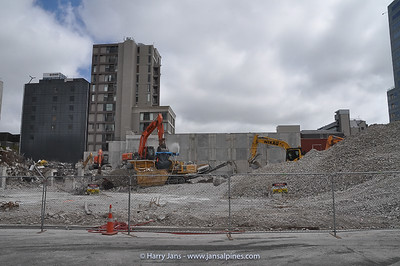 taking down buildings in many corners in and around Christchurch