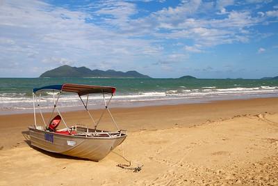 Dunk Island view @ Wongaling Beach. Mission Beach, Queensland, Australië.
